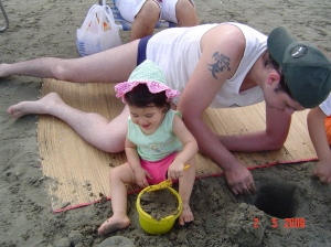 Rebecca na Praia